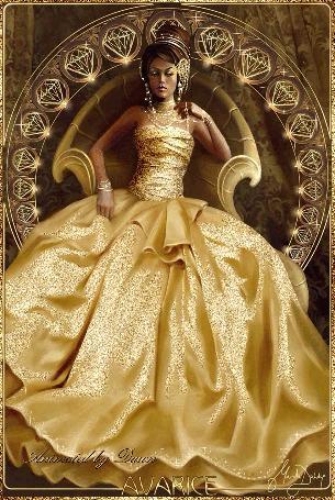 Анимация Девушка в желтом бальном платье сидит в кресле. AVARICE (© qalina), добавлено: 26.05.2015 04:09