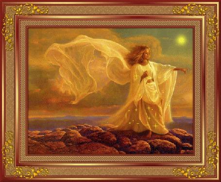 Анимация Девушка на желтом фоне освещенная лучами солнца (© qalina), добавлено: 26.05.2015 05:16