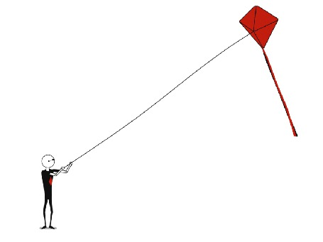 Анимация Мужчина держит воздушного змея (© Seona), добавлено: 26.05.2015 10:08