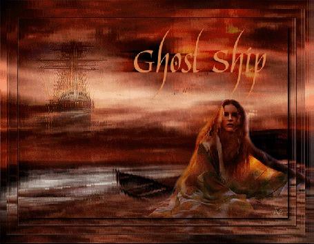 Анимация Девушка на фоне корабля под дождем (© qalina), добавлено: 27.05.2015 20:13