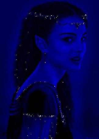 Анимация Девушка на синем фоне (© qalina), добавлено: 27.05.2015 22:13