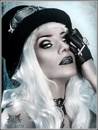 Анимация Девушка блондинка в черной шляпе и черных перчатках (твой ангел) (© qalina), добавлено: 27.05.2015 22:43