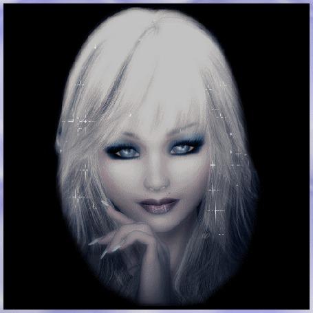 Анимация Девушка блондинка на темном фоне с голубыми глазами (© qalina), добавлено: 28.05.2015 23:21