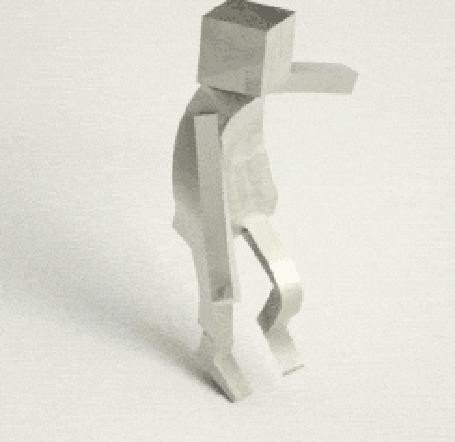 Анимация Танцующий робот - человечек