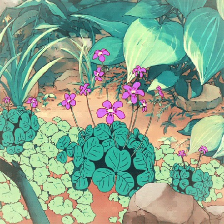 Анимация Колышущиеся сиреневые цветы (© zmeiy), добавлено: 29.05.2015 23:07