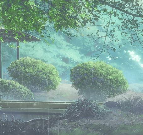 Анимация Идет дождь, аниме Сад изящных слов (© zmeiy), добавлено: 30.05.2015 08:18