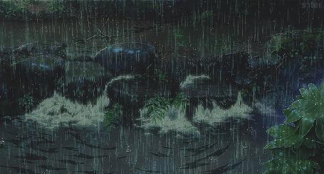 Анимация Сильный проливной дождь (© zmeiy), добавлено: 30.05.2015 08:22