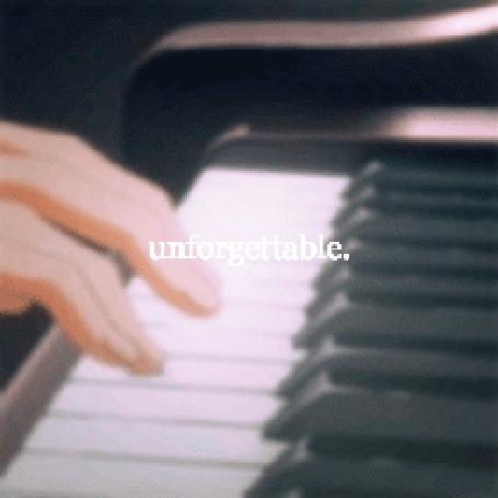 Анимация При нажатии на клавиши пианино появляется свечение