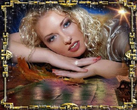 Анимация Девушка блондинка с голубыми глазами на фоне желтых листьев с колечком на руке автор МИРА (© qalina), добавлено: 31.05.2015 22:33