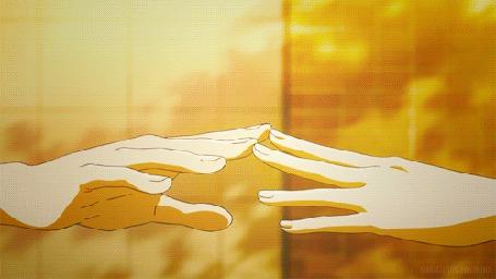 Анимация Прикосновение рук парня и девушки (© zmeiy), добавлено: 01.06.2015 09:07
