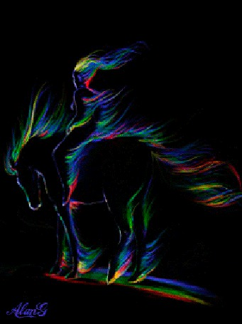 Анимация Всадник на лошади (© zmeiy), добавлено: 01.06.2015 09:11