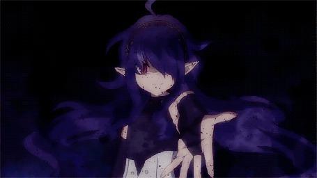Анимация Зловещая особа с красными глазами, кадр из аниме Последний серафим (© Kuppuru), добавлено: 01.06.2015 10:39