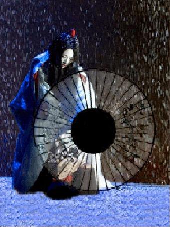 Анимация Девушка восточной наружности крутит зонт (© Akela), добавлено: 01.06.2015 12:38