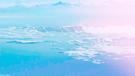 Анимация Люди купаются в море (© zmeiy), добавлено: 01.06.2015 17:04