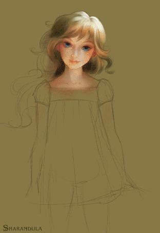 Анимация Процесс создания портрета девушки, By Sharandula (© Angelique), добавлено: 02.06.2015 12:08