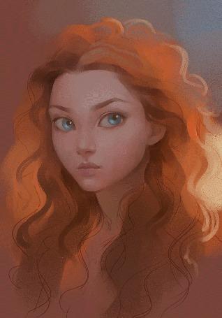 Анимация Процесс рисования портрета рыжеволосой девушки, by Sharandula (© Angelique), добавлено: 02.06.2015 12:10