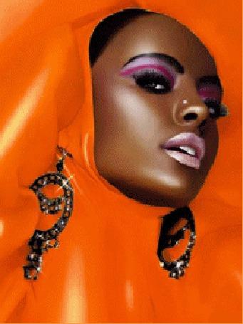 Анимация Меняющиеся цвета одежды и фона темнокожей девушки (© Akela), добавлено: 02.06.2015 18:48