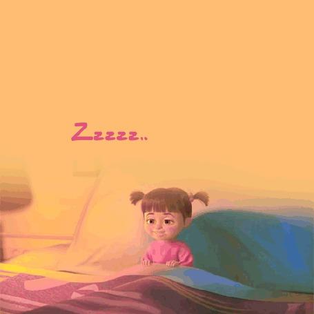 Анимация Главная героиня мультсериала Маша и Медведь ложится спать
