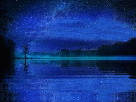 Анимация Ночь у водоема (© zmeiy), добавлено: 05.06.2015 09:48