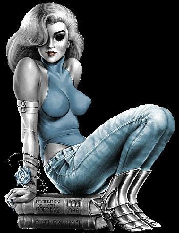 Анимация Девушка с пепельными волосами, с розочкой на руке сидит на книгах (© qalina), добавлено: 06.06.2015 12:11