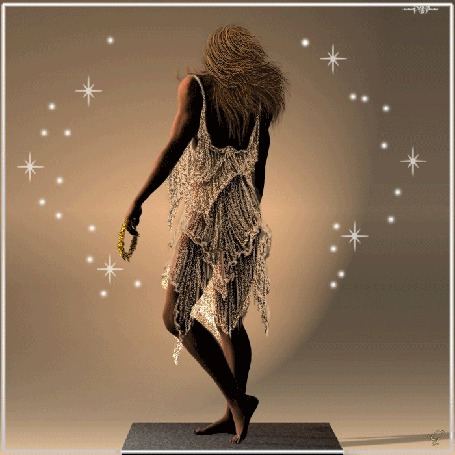Анимация Девушка в светлом платье в руках веночек на фоне мерцающие звездочки (© qalina), добавлено: 11.06.2015 06:21