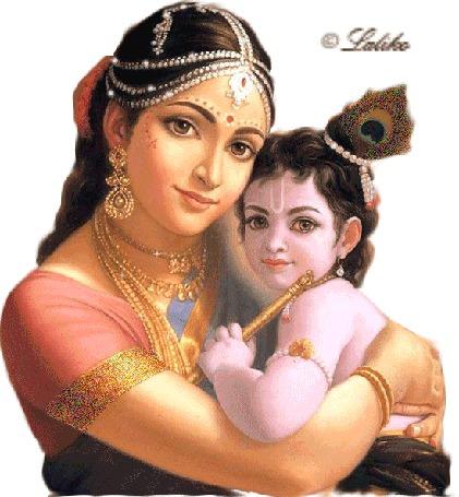 Анимация Девушка индианка в украшениях, с ребенком на руках (© qalina), добавлено: 13.06.2015 07:08