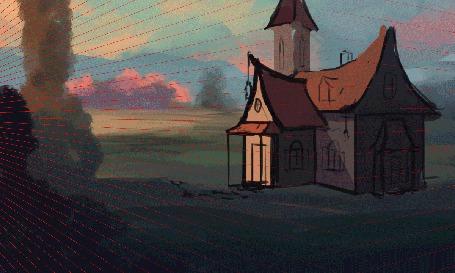 Анимация Рисунок дома и красочное изменение, ву Sylar113 (© zmeiy), добавлено: 13.06.2015 18:41