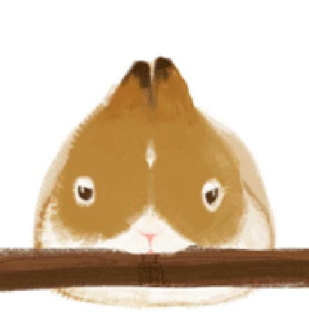 Анимация Кролик грызет палку (© Solist), добавлено: 19.06.2015 15:45