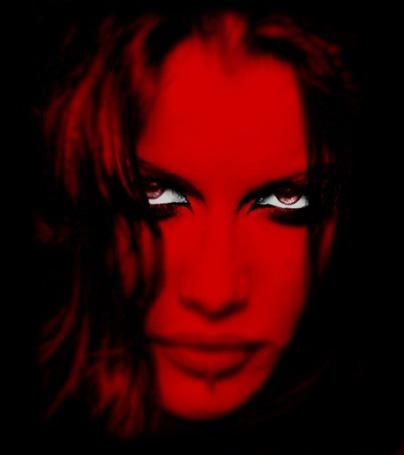 Анимация Готическая грустная девушка на красном фоне с мигающими глазами (© qalina), добавлено: 19.06.2015 22:42