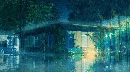 Анимация Медленно идущий дождь на улице (© zmeiy), добавлено: 22.06.2015 00:24