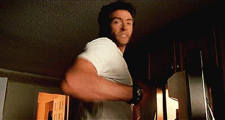 Анимация Актер Хью Джекман / Hugh Jackman в роли Logan / Wolverine, фильм Люди Икс / X-Men