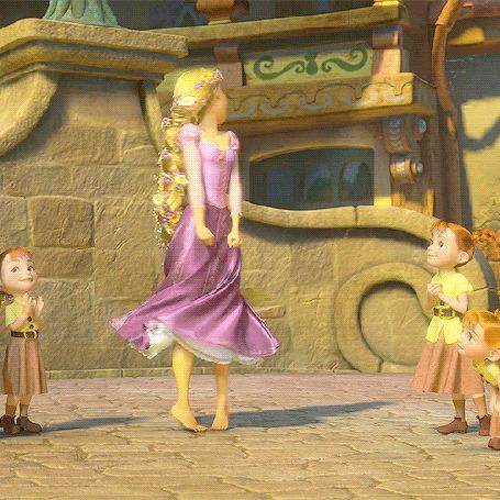 Анимация Рапунцель танцует перед детьми, мультфильм Tangled / Рапунцель: Запутанная история (© Seona), добавлено: 23.06.2015 12:25