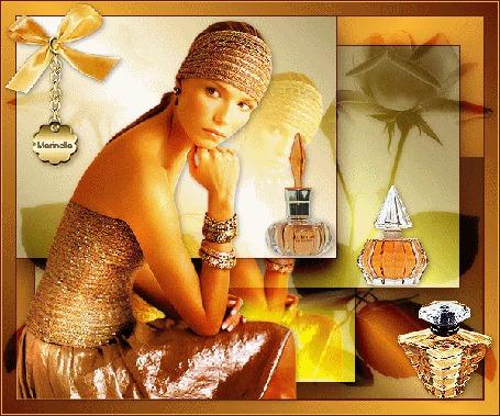Анимация Красивая девушка с браслетами на руке на фоне парфюмерии / Маринелла/ (© qalina), добавлено: 24.06.2015 19:49