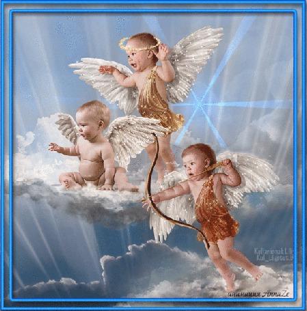 Анимация Дети ангелочки в небе на облаках / анимация АннаЗЕ/ (© qalina), добавлено: 25.06.2015 21:37