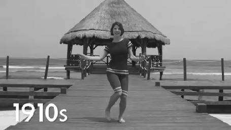 Анимация Девушка танцует на причале, 1910 (© zmeiy), добавлено: 26.06.2015 08:42