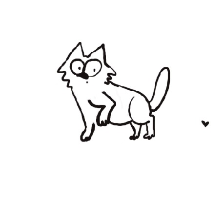 Анимация Кошка ловит муху