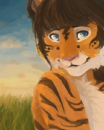 Анимация Моргающий тигренок, by GlykoNat (© zmeiy), добавлено: 01.07.2015 06:32