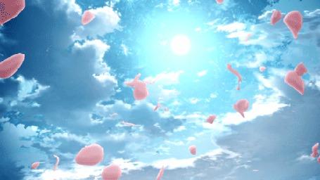 Анимация Летящие лепестки на фоне неба (© Krista Zarubin), добавлено: 04.07.2015 11:35