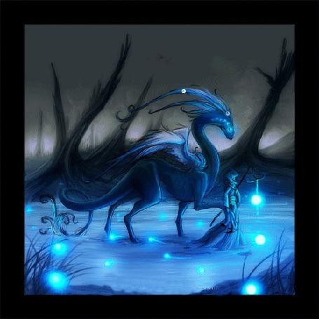Анимация Девочка и дракон (© qalina), добавлено: 04.07.2015 20:02