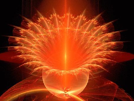 Анимация Необычное свечение в виде цветка (© zmeiy), добавлено: 11.07.2015 08:38