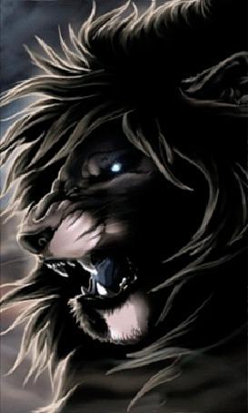Анимация Грозный лев со звериным оскалом (© царица Томара), добавлено: 12.07.2015 13:25