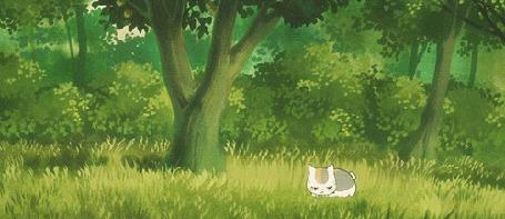 Анимация Nyanko-sensei / Нянко-сенсей из аниме Natsume's Book of Friends / Natsume Yuujinchou / Тетрадь дружбы Нацумэ (© chucha), добавлено: 14.07.2015 00:20