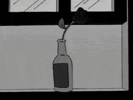 Анимация С увядшего цветка слетает лепесток, fin (конец) (© zmeiy), добавлено: 15.07.2015 17:36