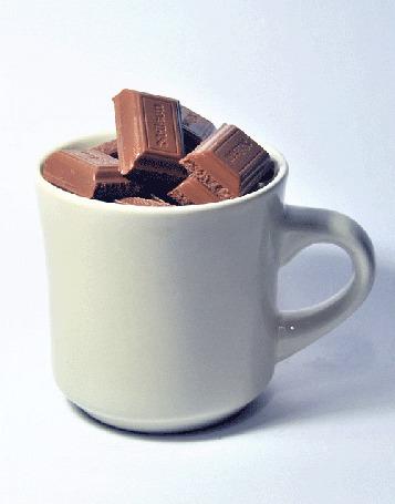 Анимация Чашка горячего шоколада (© phlint), добавлено: 16.07.2015 18:36