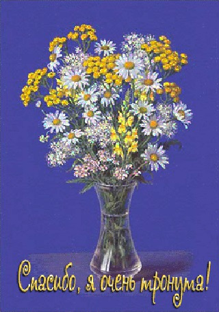 Анимация Красивый букет цветов в вазе (Спасибо, я очень тронута!) (© qalina), добавлено: 18.07.2015 14:24