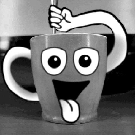Анимация Чашка с глазами и ложкой (© zmeiy), добавлено: 18.07.2015 20:14