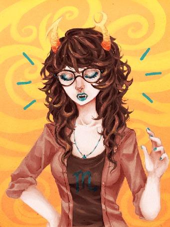 Анимация Vriska Serket / Вриска Серкет из вэб-комикса Хоумстак / Homestuck (8lah 8lah by thiefofstars) (© D.Phantom), добавлено: 21.07.2015 21:39