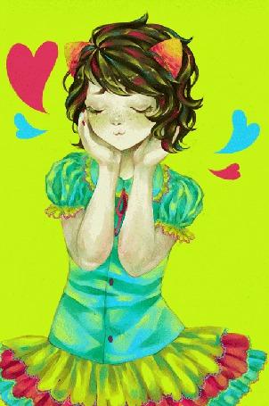 Анимация Влюбленная Непета Лейон / Nepeta Leijon из вэб-комикса Хоумстак / Homestuck, арт / art by thiefofstars