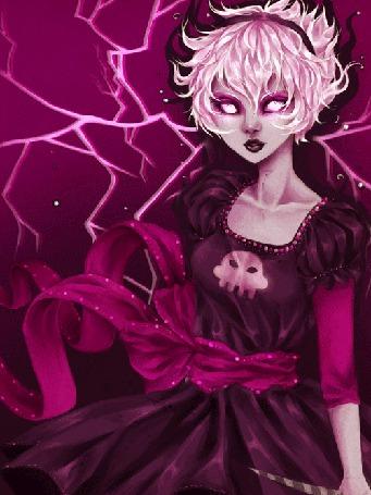Анимация Grimdark Rose / Гримдарк Роуз из вэб-комикса Хоумстак / Homestuck, арт / art by thiefofstars (© D.Phantom), добавлено: 21.07.2015 23:22