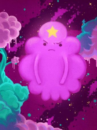 Анимация Lumpy Space Princess / Принцесса Пупырка из мультсериала Время Приключений / Adventure Time, арт / art by thiefofstars